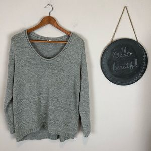 Old Navy Gray Sweater Size Medium Slouchy
